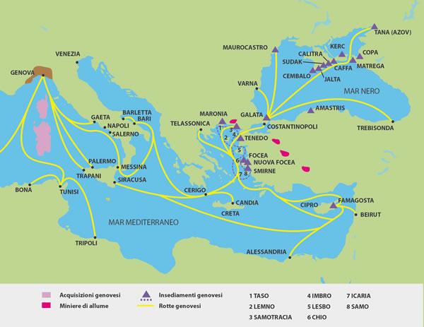 Espansione della repubblica di genova nel mediterraneo