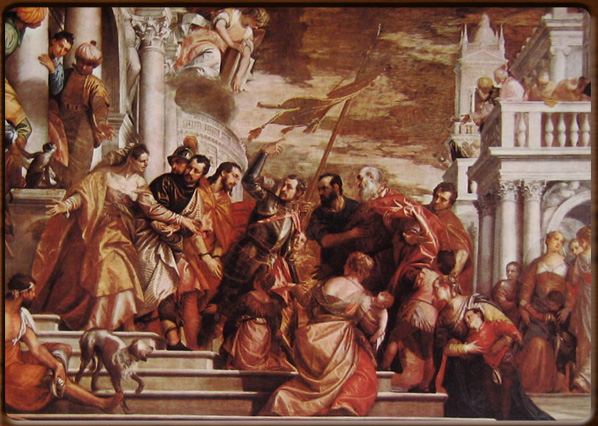 The Saints Marco and Marcelliano guided by San Sebastiano to the martyrdom, Paolo Veronese.