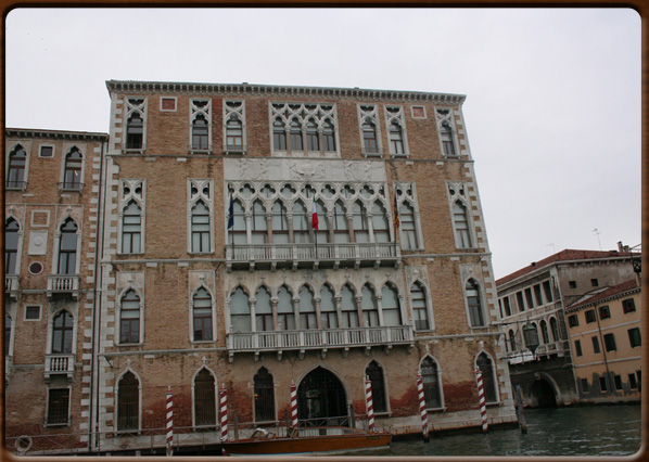 Ca' Foscari, the sumptuous façade.