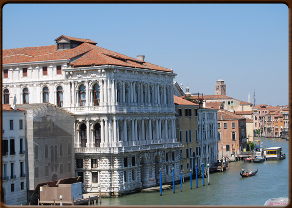 The majestic building of Cà Pesaro on the Canal Grande