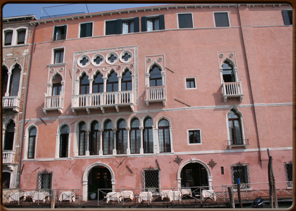 The façade on the Canal Grande.