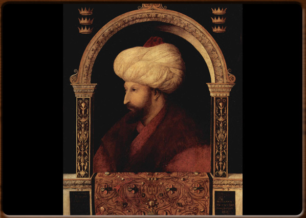 Portrait of Muhammad II, Gentile Bellini, 1479-80, National Gallery, London