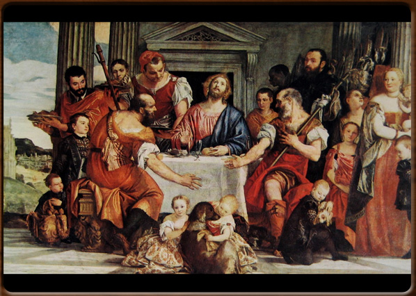 Supper at Emmaus. Paolo Veronese,  1560, Musée du Louvre,  Paris.