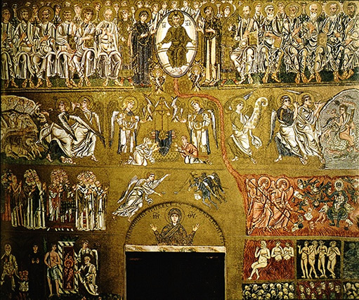 The Last Judgment, mosaic of the XII-XIII century