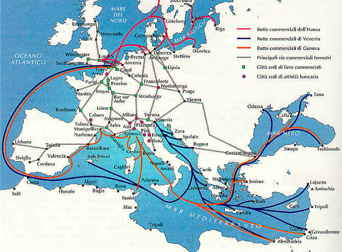 Venice and its lagoons :: Trade Routes and Goods