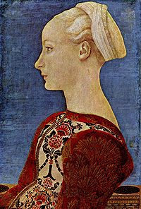Portrait of young woman, Domenico Veneziano, 1475, ca., Berlino, Gemäldegalerie.