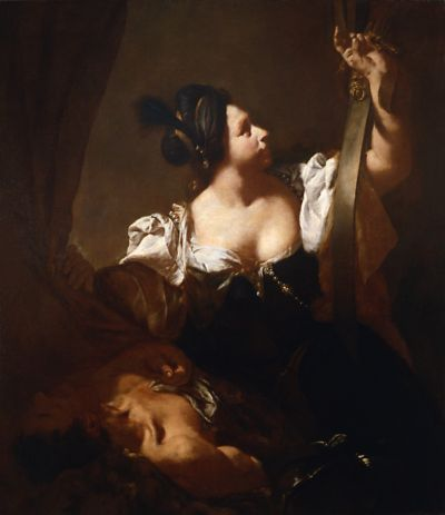 Judith and Holofernes, Giovanni Battista Piazzetta, 1720 c., National Gallery of Palazzo Corsini, Rome.