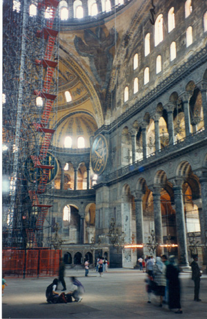 An example of Byzantine architecture, Hagia Sofia.