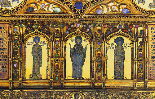 The Doge Ordelafo Falier. Enamel of the Pala d'Oro, St. Mark's Basilica, Venice.