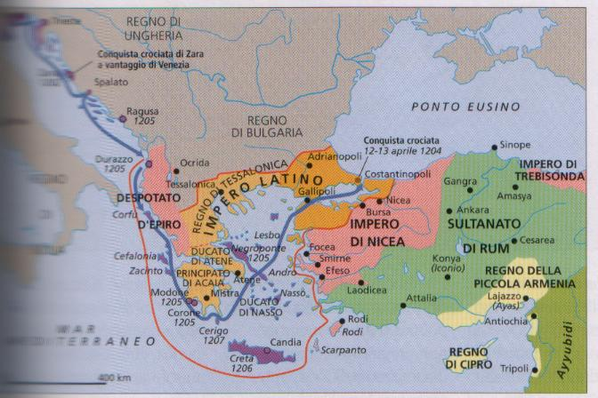 Domains of the Republic of Venice after the Fourth Crusade