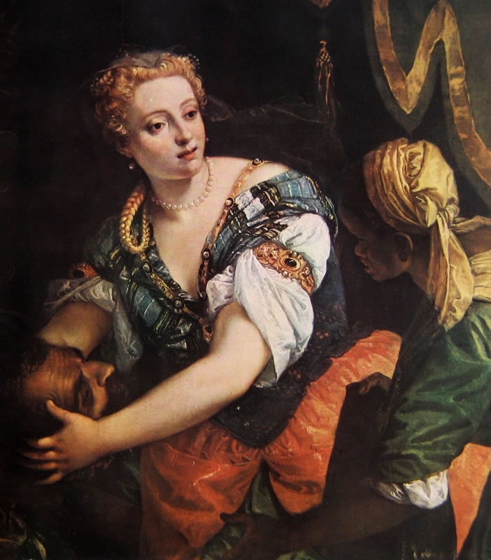 Judith and Holofernes. Paolo Veronese, Wien, Kunsthistorisches Museum.