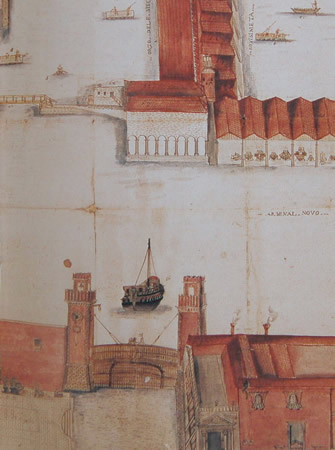 Extensions of the complex of the Arsenale - Perspective plant of the Eighteenth Century