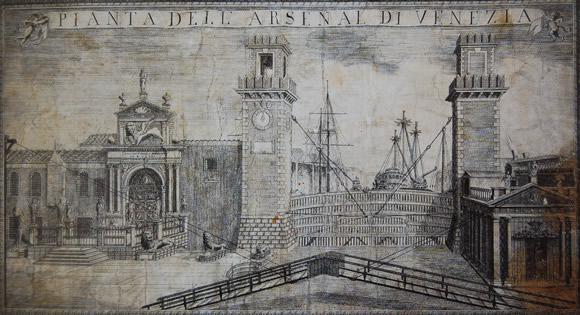 View of Porta Magna from Maffioletti, 1790.