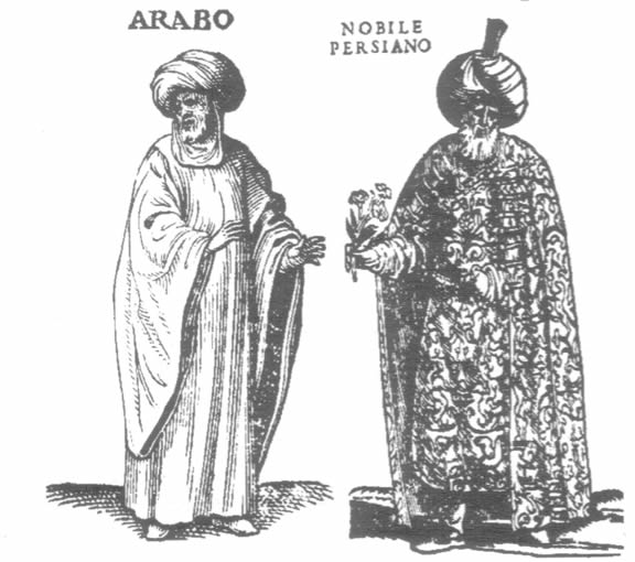 An Arab and a  Persian nobleman.