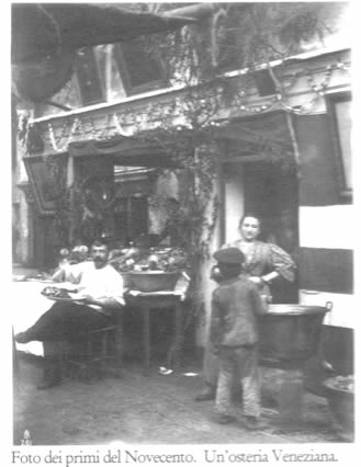 A Venetian tavern, photo of the beginning of XX s.