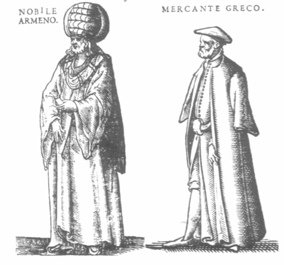 An Armenian noblrman and a Greek merchant.