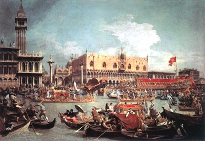 Antonio Canal, called Canaletto, The Feast of the Sensa (Assumption), oil on canvas, the eighteenth century.