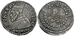 Venetian coins. The silver lira Tron, in 1472.
