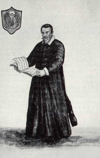 Claudio Monteverdi, conductor of the St. Marks chorus.